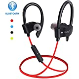 Wireless Bluetooth Earbuds Headphones Waterproof in Ear Flexible Earphone EarPlug Noise Cancelling Sport Headsets Compatible iPhone iPad Android Smart Bluetooth Device - Red