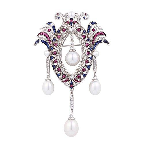 Swarovski Pink Vintage Brooch - Vintage Women's Jewelry Brooches Swarovski Crystal Rhinestones Brooch Pin for Wedding Party Gift