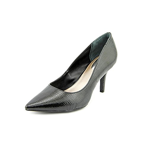 Alfani Womens Jeules Leather Pointed Toe Classic Pumps, Black Leather, Size 8.0