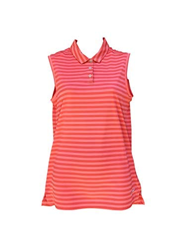 Nike Womens Tank Top & Sleeve Shirts Golf Tanks (Small, Tropical Pink/Sea Coral/Flat Silver)