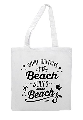 Tote What Bag Beach White Shopper The Statement At Stays Happens wTY7wqp
