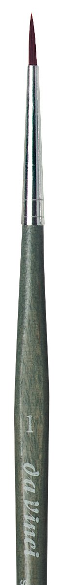da Vinci Modeling Series 363 Forte Gaming and Craft Brush, Round Extra-Strong Synthetic with Blue-Green Handle, Size 1