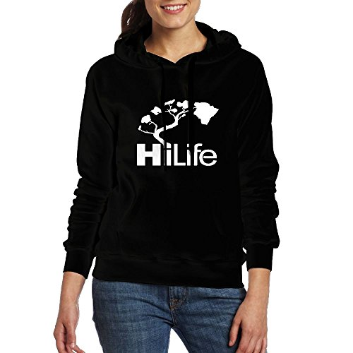 Womens Hi Hawaii Life Warmer Hoodies Hiking Pullover With Kangaroo Pocket (Arizona Christmas Gift Baskets)