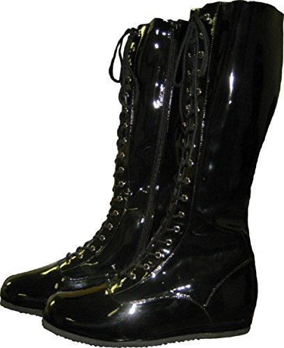 Black Adult Wrestling Boots-Adult XL by MyPartyShirt
