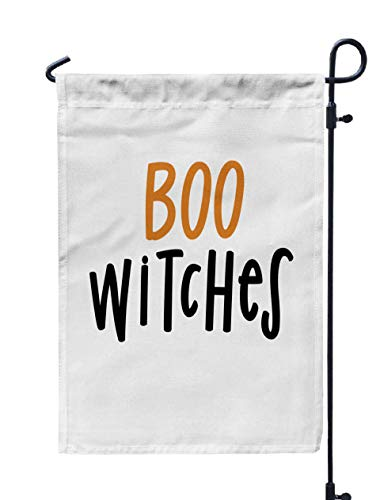 (HerysTa Welcone Garden Flag, Decorative Yard Farmhouse Holiday Banner 12 x 18 inches Boo Witches Lettered Phrases Double-Sided Seasonal Garden)