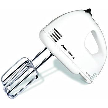 Proctor Silex 62515RY 5-Speed Easy Mix Hand Mixer, White
