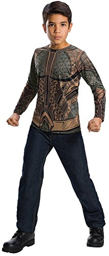 [Rubie's Costume Boys Justice League Aquaman Top Costume, Small, Multicolor] (Aquaman Costume For Kids)