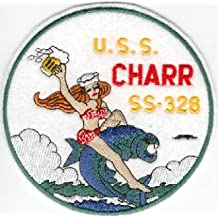 USS Charr SS 328 - Bikini Lady Riding Fish