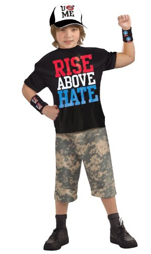Rubies Costumes WWE John Cena Muscle Chest Child Costume Black Small -