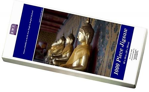 Media Storehouse 1000 Piece Puzzle of Statues of Buddha in the Wa Arun Temple in Bangkok Thailand (5745631)
