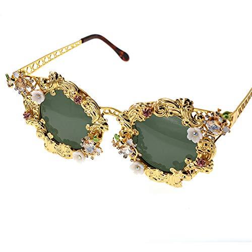 de Elegante Colorido Conducir de Gafas conducción de Sol Marco Cristal Lady'S de Gu Metal de la protección Verano Playa Baroque la Lleno para UV Peggy de 5q8PSUt