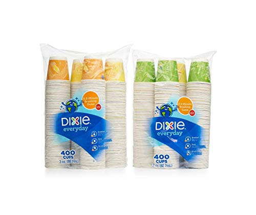 Dixie - Bath Cup, 3 oz. - 800 Cups (2 pack of 400ct), Varies Color