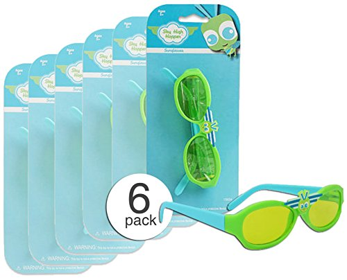 Set of 6 - Quality Child Toy Glasses - Toy Sunglasses - Preschool Party Favors - Wholesale - Bulk  - Wholesale Sunglasses Discount
