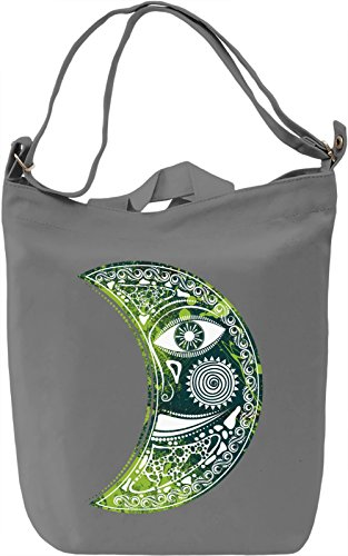 Green Moon Borsa Giornaliera Canvas Canvas Day Bag| 100% Premium Cotton Canvas| DTG Printing|