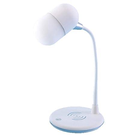 Lámpara de escritorio de carga USB Bocina Bluetooth Cargador ...