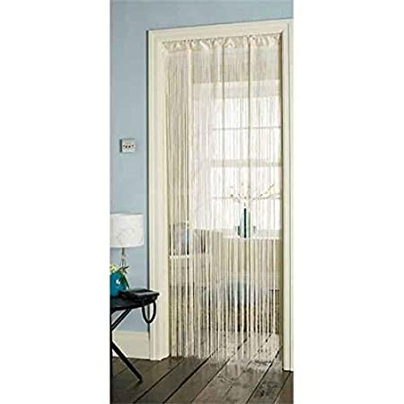 Retro Tassel Door Curtain Fly Insect Bug Screen Plain Cream String For  Doorways