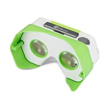 DSCVR Headset inspired by Google Cardboard v2 IO 2015 VR Gear for Apple iPhone and Android Smartphones - Google WWGC Certified Virtual Reality Viewer - Green