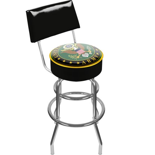 United States Army Padded Swivel Bar Stool with Back ()