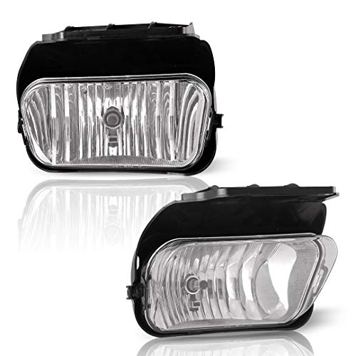 WINJET Fog Lights Driving Light Front Bumper Lamps Kit for 2003-2007 Chevy Silverado / 2002-2007 Chevy Avalanche (With out Body Cladding) - CLEAR LENS (Pack of 2pcs)