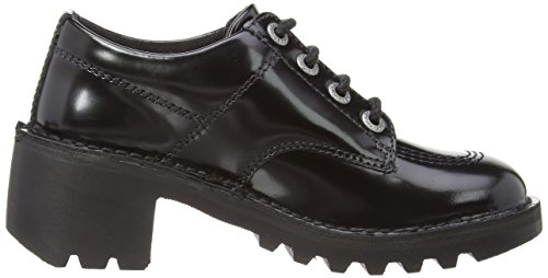 Kickers Kopey LO Leather AF - Botines tacón, color: negro Negro