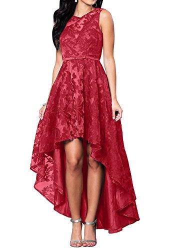 Rot Spitze Abendkleider Bodenlang La Dunkel Langes Festlichkleider lo Kleider mia Brau Partykleider Neu Jugendweihe Promkleider Hi wqZS4