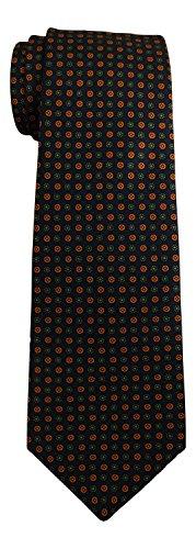 kiton-navy-neat-medallion-print-tie