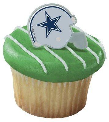 NFL Dallas Cowboys Football Helmet Cupcake Rings -