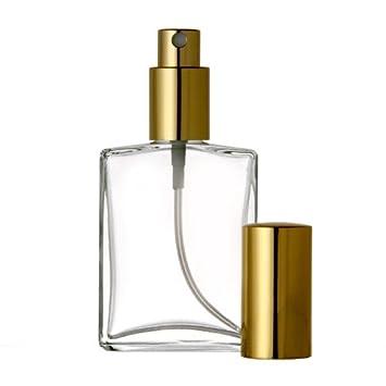 174295a5e83a Amazon.com : 2 oz Flat Glass SPRAY BOTTLE 48 Bottles: Fine Mist ...