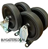 Rubbermaid Cart Casters - 5' Non-Marking Wheels fits 4400 & 4500 Series Carts - Set of 4- BuyCasters Brand