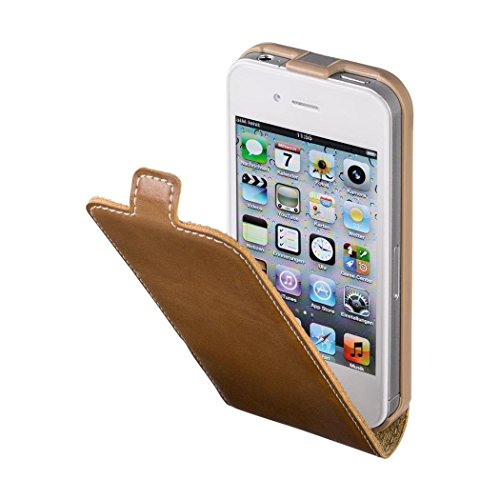 "HAMA Etui à rabat ""Guard Case"" pour Apple iPhone 4/4S,marron/nature"