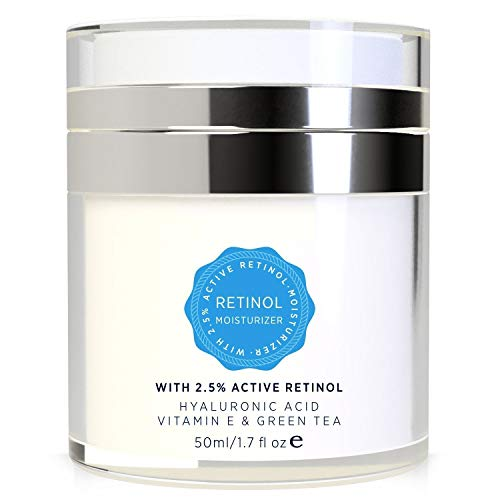 41aOC4rmC7L - Essy Retinol Cream for Face and Eye Area - with Active Retinol, Hyaluronic Acid, Vitamin E and Green Tea, Anti Aging Formula Reduces Wrinkles, Night and Day Moisturizing Cream