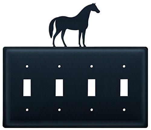 Iron Horse Quad Switch Cover - Black Metal ()
