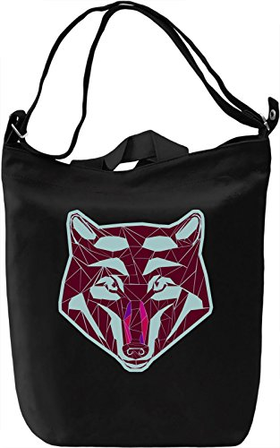 Psychedelic Wolf Borsa Giornaliera Canvas Canvas Day Bag| 100% Premium Cotton Canvas| DTG Printing|
