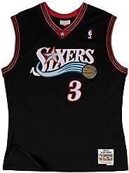 Allen Iverson Philadelphia 76ers Mitchell & Ness NBA Throwback Jersey - B