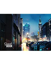 Night Indianapolis City of Indiana Vacation Guest Book to Sign In, Airbnb, Guest House, Hotel, Bed and Breakfast, Lake House, Cabin: 8.25 x 6 inch size Recording Your Guest Favorite Moment, Message To Host, Visitor Comments Book