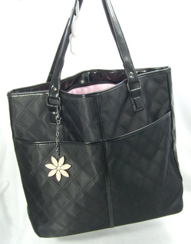 Black Quilted Nylon Tote By Mary Kay ()