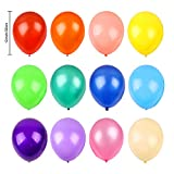 RUBFAC 120 Assorted Color Balloons 12 Inches 12