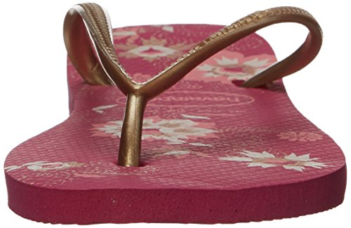 Havaianas Thong Sandals Women's Slim Rose Raspberry Slip Organic Strap On rFrXCqR