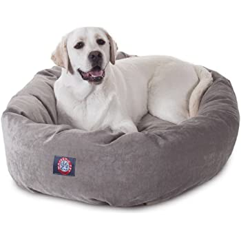 Etonnant 40 Inch Vintage Villa Collection Micro Velvet Bagel Dog Bed By Majestic Pet  Products