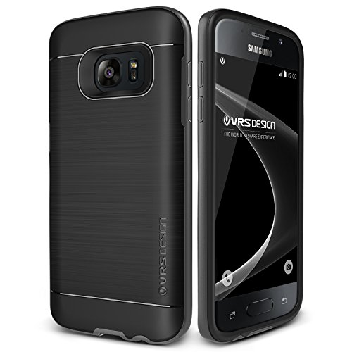 Galaxy S7 Case, VRS Design [High Pro Shield][Steel Silver] - [Military Grade Protection][Slim Fit] For Samsung S7 by Verus