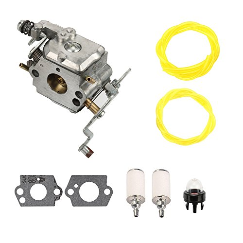 AnTo C1M-W47 Carburetor with Air Filter Fuel Line Filter Kit for Poulan PP5020AV PP5020 2 stroke Gas Chainsaw 573952201 Craftman 358.350980 358.350981 (Pro Carburetor)