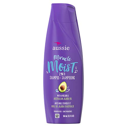 Aussie For Dry Hair Paraben-free Miracle Moist 2 In 1 with Avocado & Jojoba, 6 Count