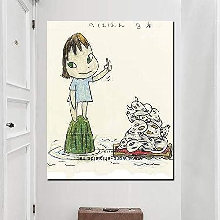 zzlfn3lv Cuadro en Lienzo Yoshitomo Nara HD Imprimir Comics ...