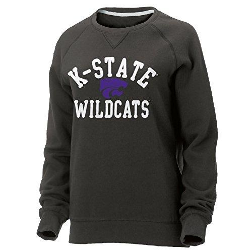 Ouray Sportswear NCAA Kansas State Wildcats Womens NCAA Women's Hot Shot Crew Neck Sweatshirt, Graphite, Medium