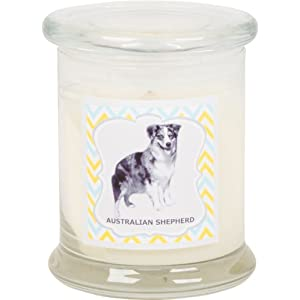 Aroma Paws Aromatic Dog Candle in Jar with Lid – for Canine Pet Odors, Vanilla Nutmeg Clove Scent – Cotton Wick Handcrafted – Soy Wax – Reusable, Recyclable Jar – 90 Min. Burn Time – 12 Oz. 2