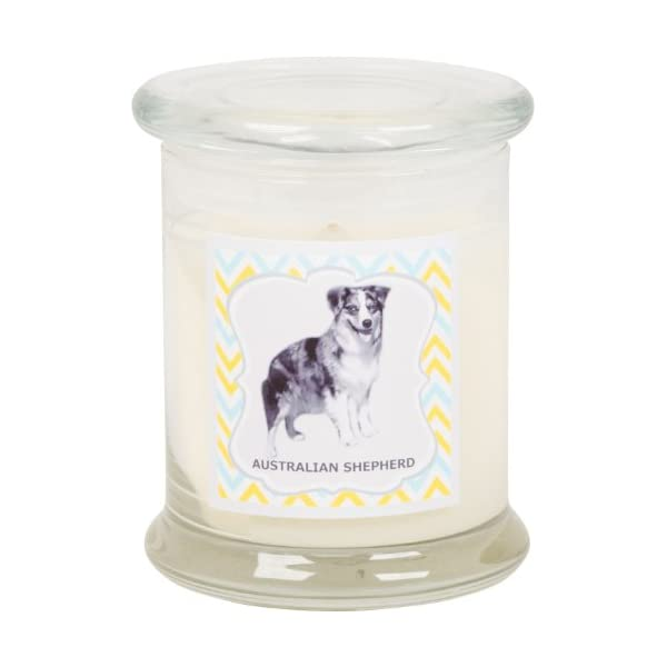 Aroma Paws Aromatic Dog Candle in Jar with Lid – for Canine Pet Odors, Vanilla Nutmeg Clove Scent – Cotton Wick Handcrafted – Soy Wax – Reusable, Recyclable Jar – 90 Min. Burn Time – 12 Oz. 1