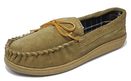 Brown Sleepers Leather 11 Slippers 10 Size Wide Suede Moccasin Fit Blue Light Mens 8 Real Brown 12 Navy 9 qUXdfHw