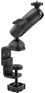 ARKON Heavy Duty Camera Clamp Mount with 1/4 20 Mounting Bolt for Nikon Sony Canon Olympus Panasonic Cameras