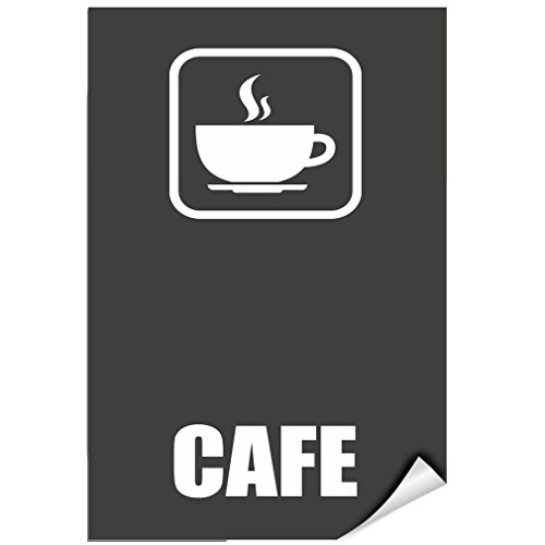 Cafe Style 3 Business Sign Lunch Room And Break Room LABEL DECAL STICKER Sticks to Any Surface