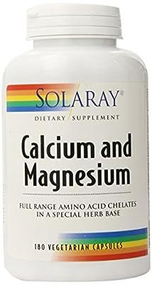 Solaray Calcium and Magnesium AAC Capsules, 180 Count